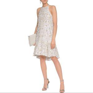DvF Kera Sequin-Embellished Crepe Dress sz 8